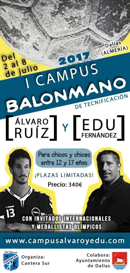 Cartel Campus Álvaro y Edu